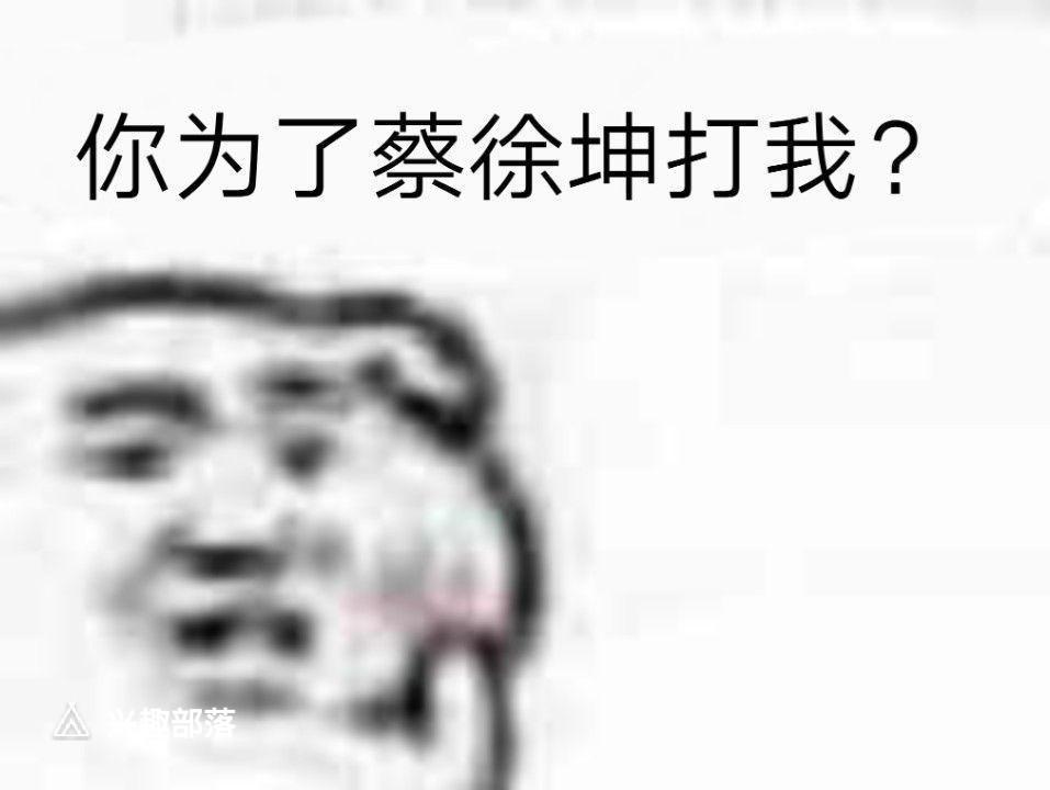 你为了蔡徐坤打我