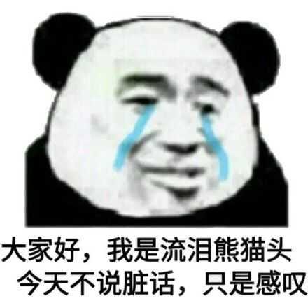 大家好我是流泪熊猫头今天不说脏话只是感叹