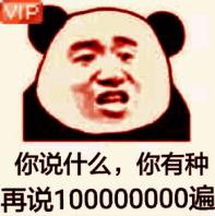 你说什么你有种再说1000000遍